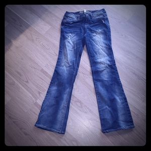 Girls distressed justice jeans new without tags